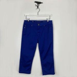 Liverpool Royal Blue Michelle's Capri Pants
